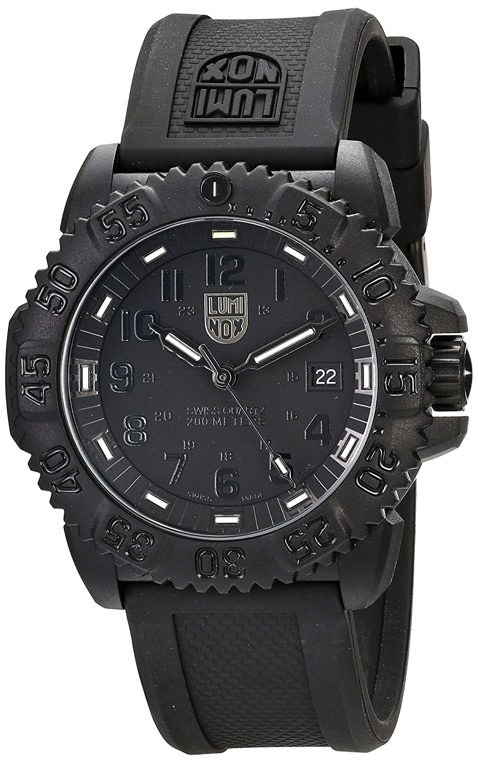 LUMINOX Herrenuhr FaserverstÄrktes Carbon 3051.BO Blackout