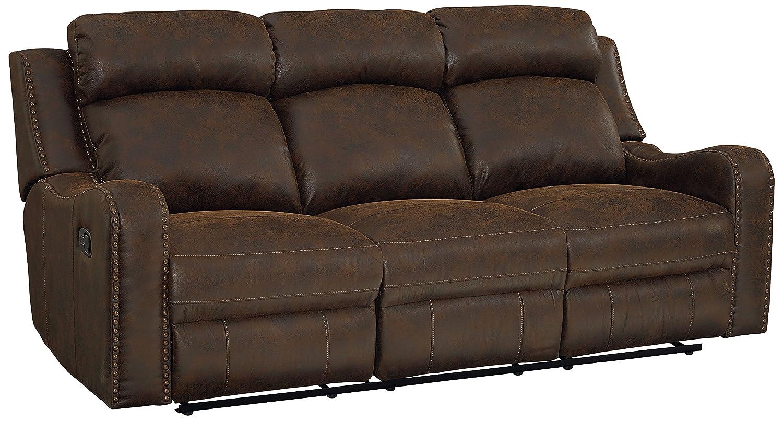 Amazon.com: Sofá muebles bankston estándar, Tela, Marrón ...