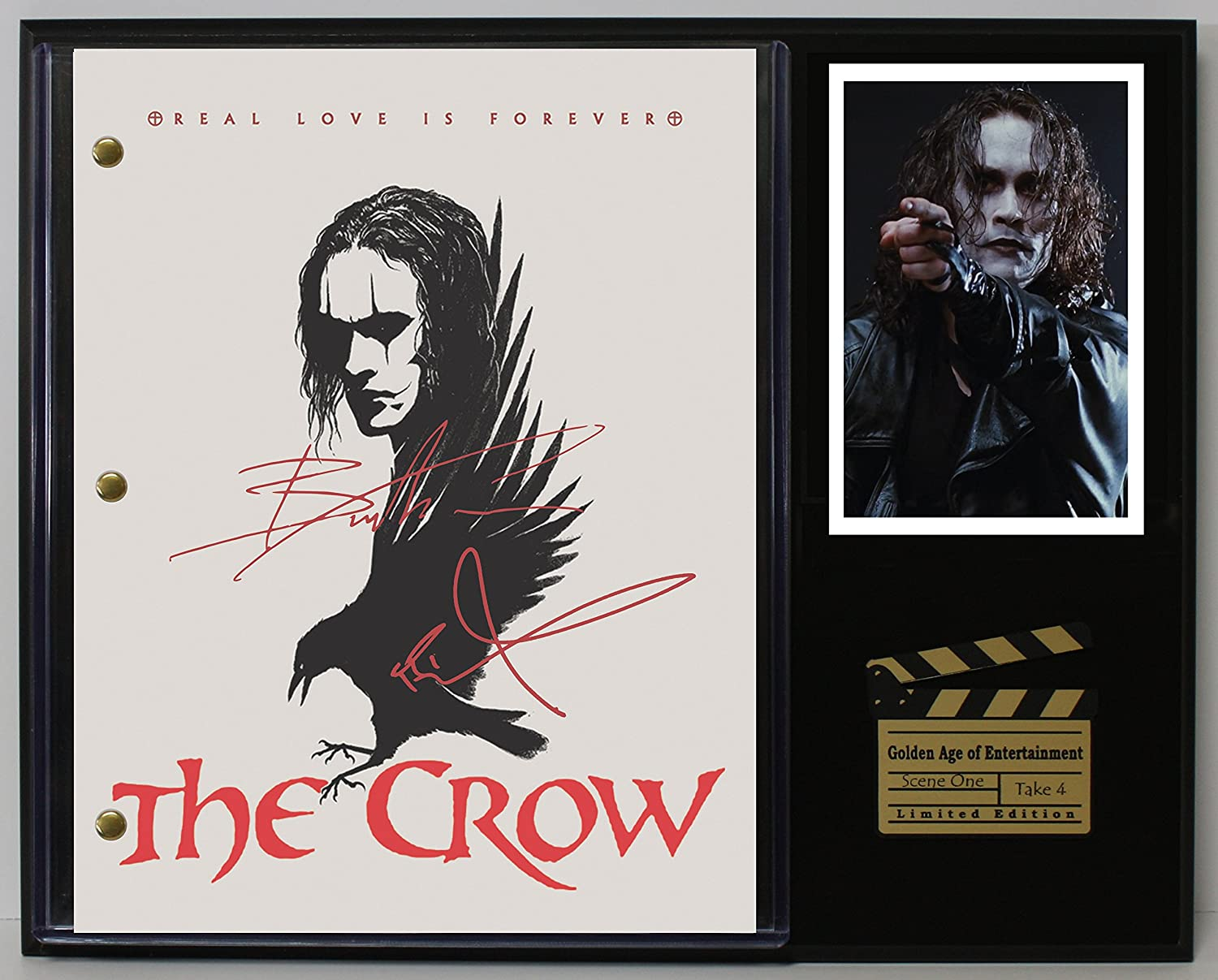 THE CROW LTD EDITION REPRODUCTION SIGNED CINEMA SCRIPT DISPLAY'C3'