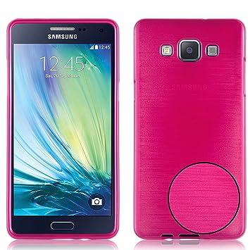 Cadorabo Funda para Samsung Galaxy A5 2015 en Fucsia - Cubierta Proteccíon de Silicona TPU Delgada e Flexible con Antichoque - Gel Case Cover Carcasa ...