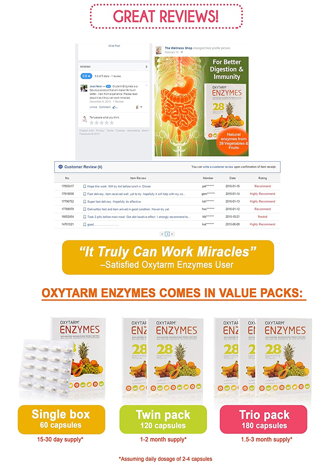 Amazon.com: med-eq oxytarm enzimas 60tablets: Health ...