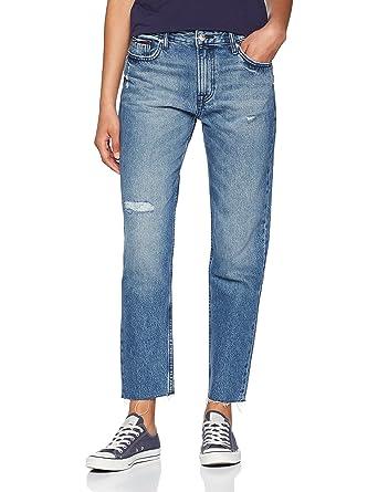 e2cbc123 Tommy Jeans Women's High Rise Izzy Crop Slim Jeans, Blue (Orion Mid Blue  Rigid