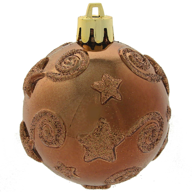 Braune Christbaumkugeln.Werchristmas 15 Teile Kunststoff Bruchsichere