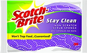 Scotch-Brite Stay Clean Scrub Sponge (Pack of 12)