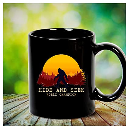 31734715 Image Unavailable. Image not available for. Color: Bigfoot tshirt  adventurer camping Sasquatch sunset - Hide and Seek World Champion Mug