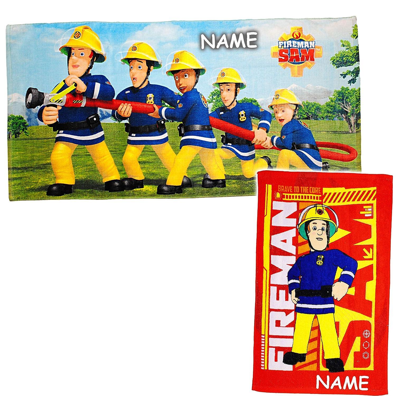 40 cm * 60 cm .. Frottee // Velours Name 70 cm * 140 cm alles-meine.de GmbH 2 TLG inkl Set /_ Badetuch // Strandtuch /& Kinderhandtuch Baumwolle 100 /% Feuerwehrmann Sam