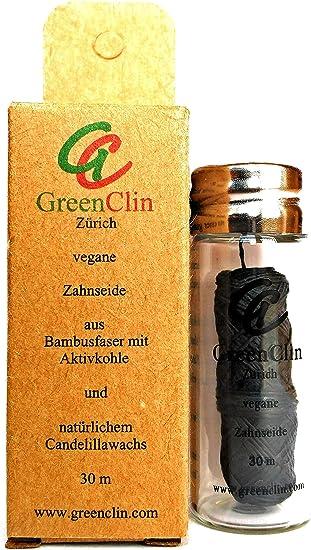Seda dental vegana, sin plástico, 100% biodegradable, con carbón ...