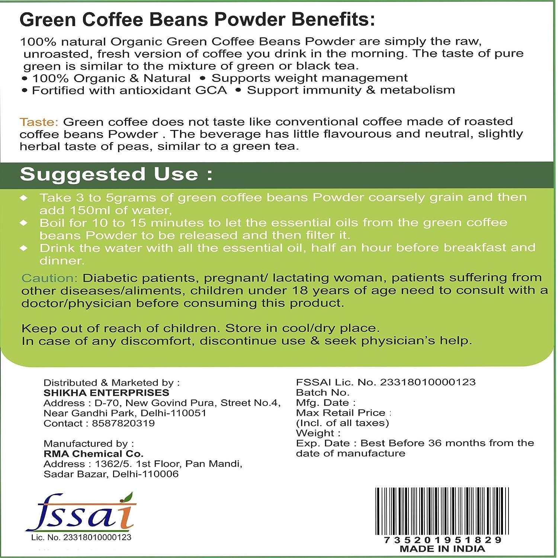 Vihado Green Coffee Bean Powder 500g For Natural Weight Loss: Amazon