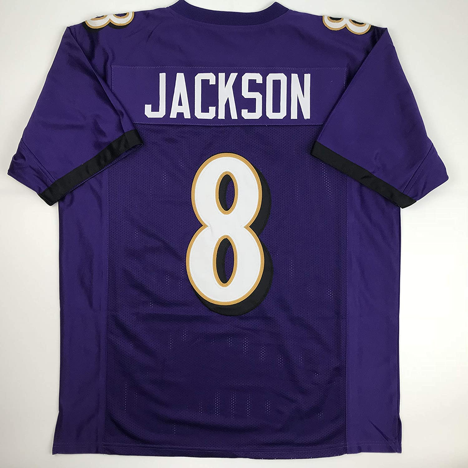 77bf958ba Amazon.com: Unsigned Lamar Jackson Baltimore Purple Custom Stitched  Football Jersey Size Men's XL New No Brands/Logos: Sports Collectibles
