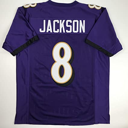 e06b81f220a Amazon.com: Unsigned Lamar Jackson Baltimore Purple Custom Stitched Football  Jersey Size Men's XL New No Brands/Logos: Sports Collectibles