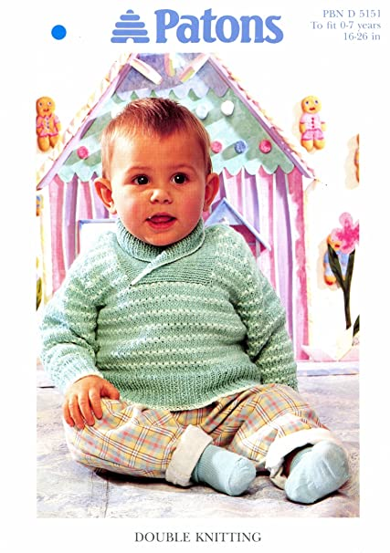 Amazon Patons Baby Shawl Collar Sweater Knitting Pattern In Dk