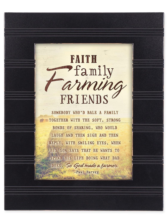 Amazon.com: Faith Family Farming Friends So God Made a Farmer Black ...