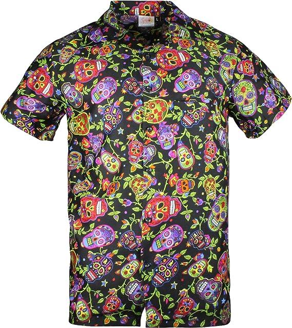 Cherry-on-Top - Camisa Hawaiana, diseño de Calavera, Color Azul Marino 6 a 8 años: Amazon.es: Ropa y accesorios