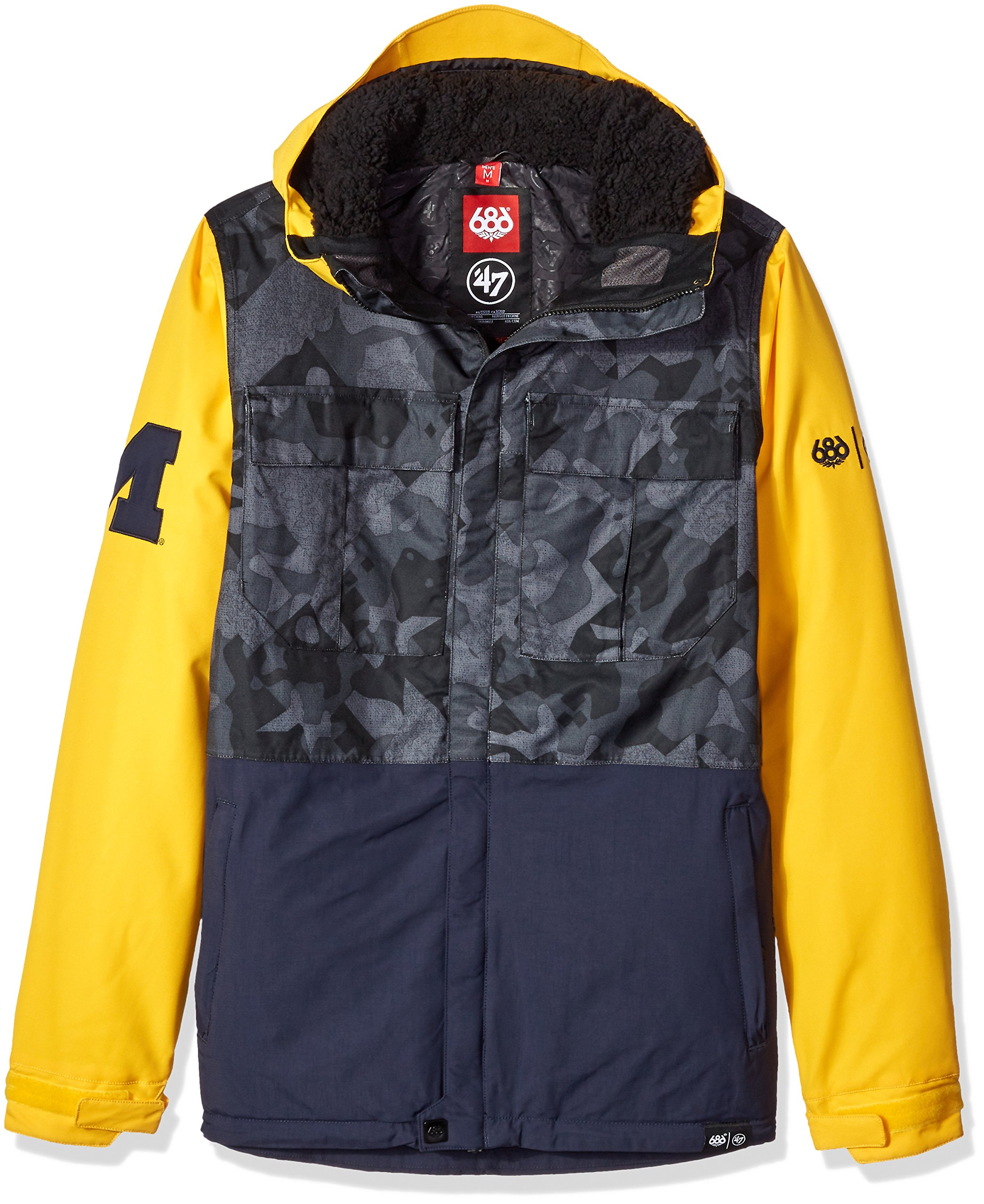 686x47 NCAA Michigan Wolverines Men's Victory Insulated Jacket, X-Large, Michigan Navy