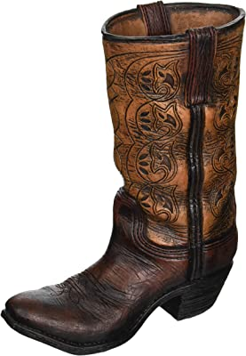 Burton & Burton Western Cowboy Boot Unique Vase for Home, Western Themed Events