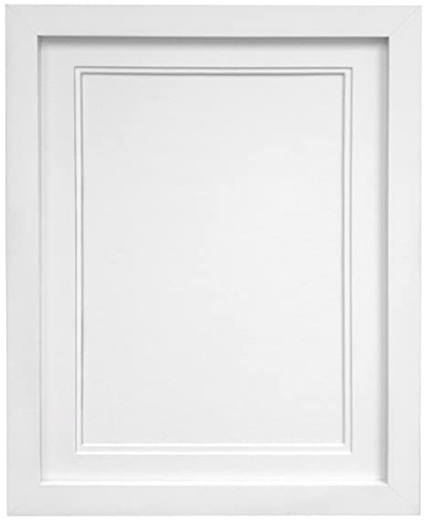 Frames By Post H7 Picture Photo Frame Wood White With White Double