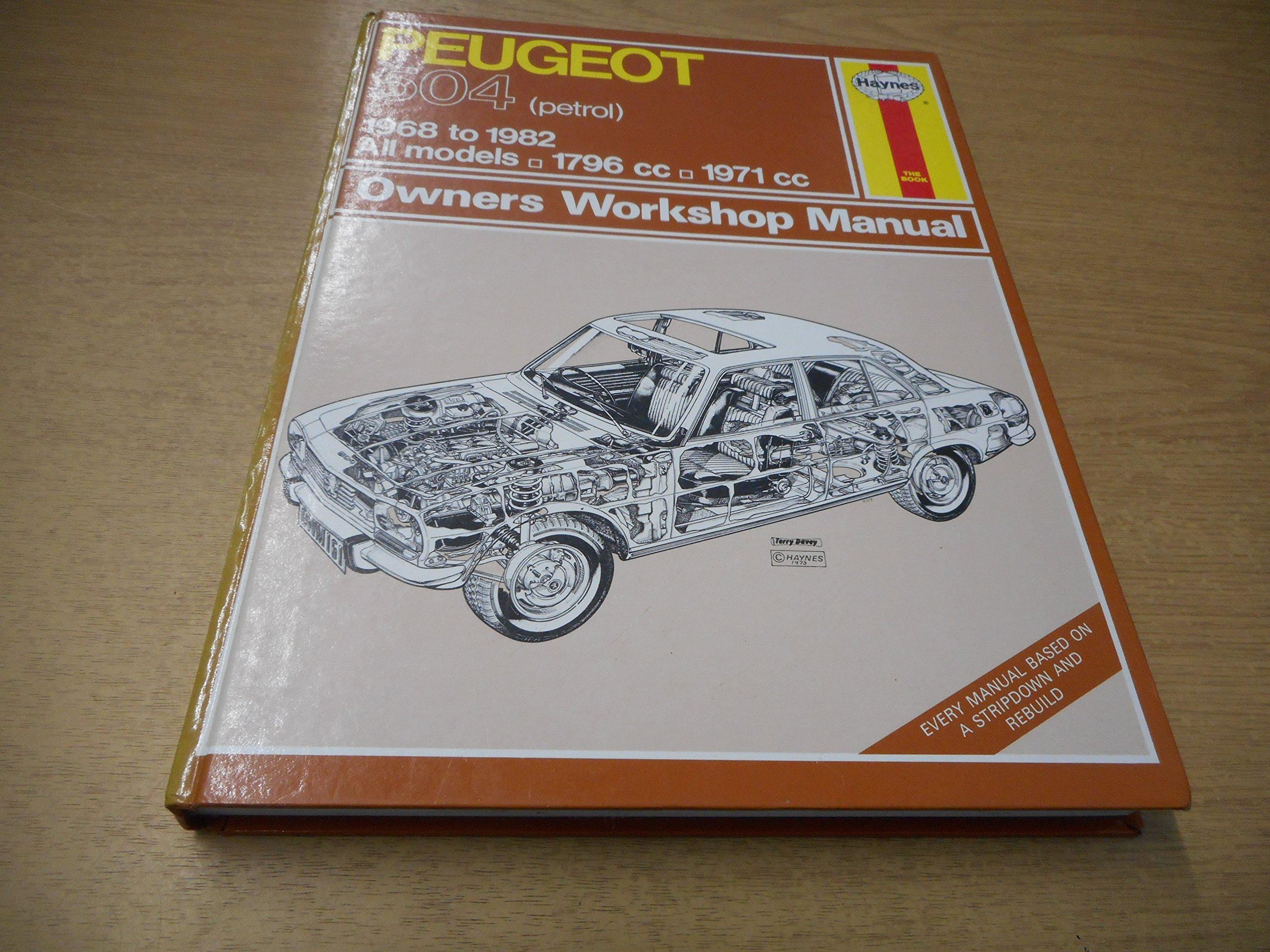 peugeot 504 petrol 1968 82 owner s workshop manual service rh amazon co uk Peugeot 607 Peugeot 405