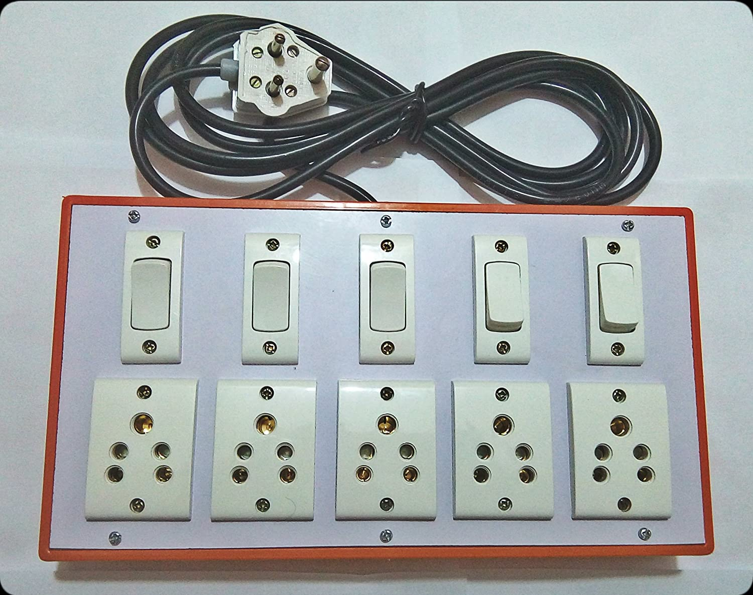Spike Buster Electrical Extension Board 6Amp with 4 Switch ... on