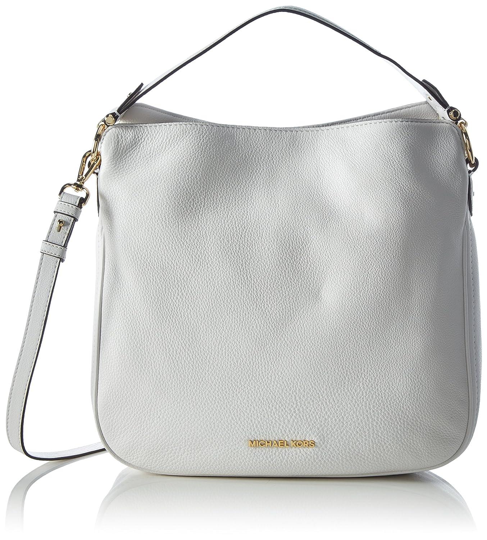 5755447389 Amazon.com  MICHAEL Michael Kors Heidi Medium Leather Shoulder Bag (Optic  White)  Shoes
