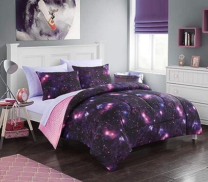Amazoncom Heritage Kids Galaxy Comforter Set Twin Purple Toys