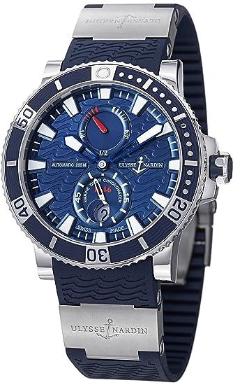 Ulysse Nardin Maxi Marino Diver Titanio Azul Dial Azul Goma Mens Reloj 263 – 90 –