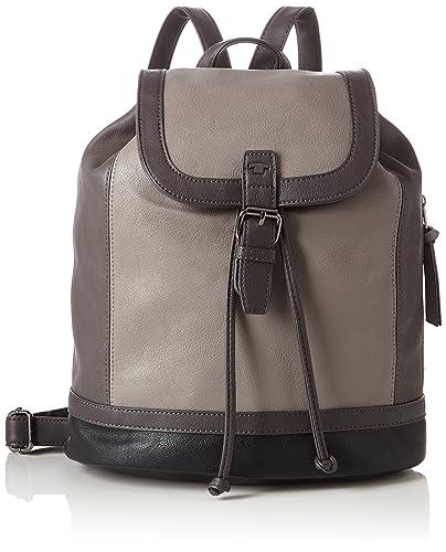 Damen Ivy Rucksackhandtasche, Schwarz (Schwarz), 6x29x24 cm Tom Tailor