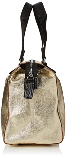 Womens Embossed Flower Stem Leather Small Zip Messenger Messenger Bag Gold (Gold) Orla Kiely wUQart