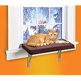 Kleeger Cat Window Perch Seat Sunny Kitty Window Sill Shelf With Fleece Foam Cushion
