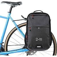 Dos Rueda Gear–Alforja Mochila–Convertible 2en 1desplazarse y viaje bolsa de bicicleta