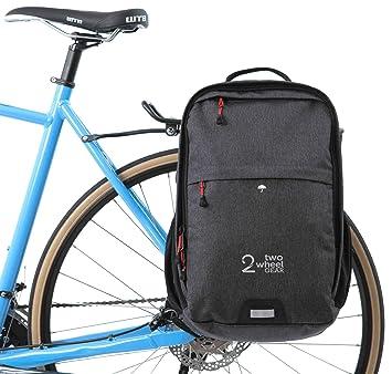 Dos Rueda Gear - Alforja Mochila - Convertible 2 en 1 desplazarse y viaje bolsa de bicicleta: Amazon.es: Deportes y aire libre