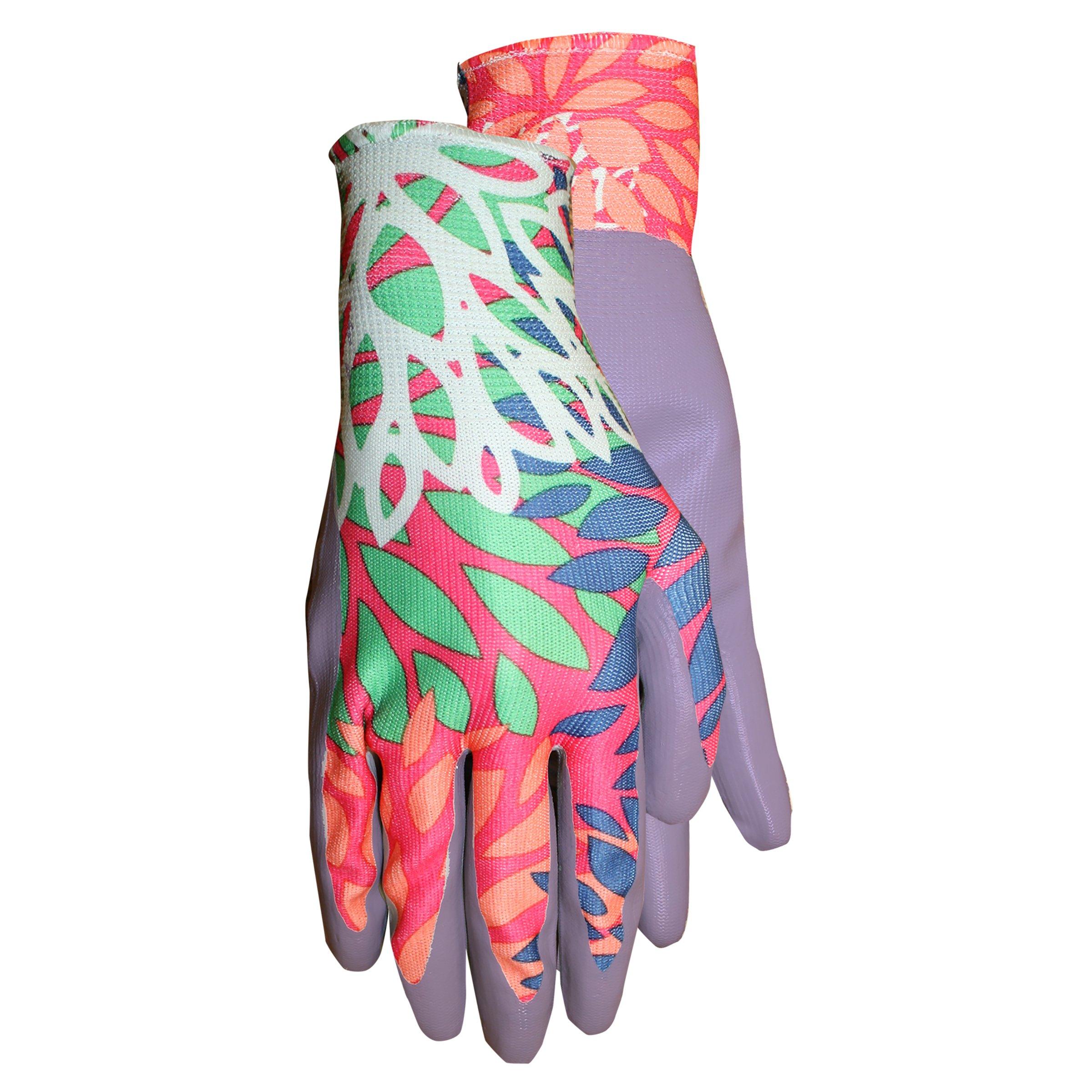MidWest Gloves 66F6-M-AZ-1 Ladies Garden Gripper Glove (72 Pair Pack), Medium, Assorted by Midwest Gloves & Gear