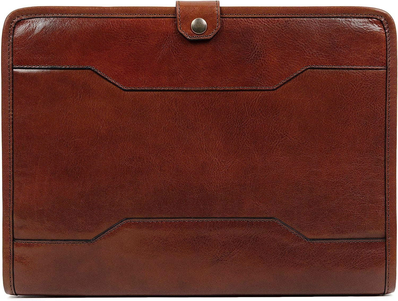 Leather Portfolio Organizer Folder 13 in Laptop Case Brown – Time Resistance
