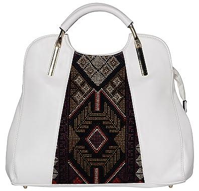c19d3fb86f015 Pluto Plus Designer Women's Handbags Limited Edition (White, 4926):  Amazon.in: Shoes & Handbags
