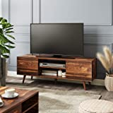 WLIVE Mid-Century Modern TV Stand for 55/60 inch TV, Media Console, Entertainment Center with Storage Cabinet for Living Room