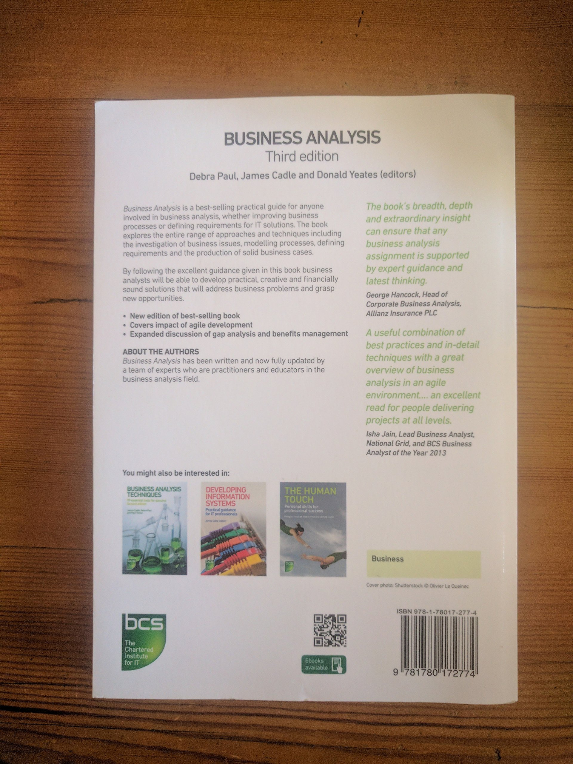 Business Analysis 3rd Edition Amazon 9781780172774 Books