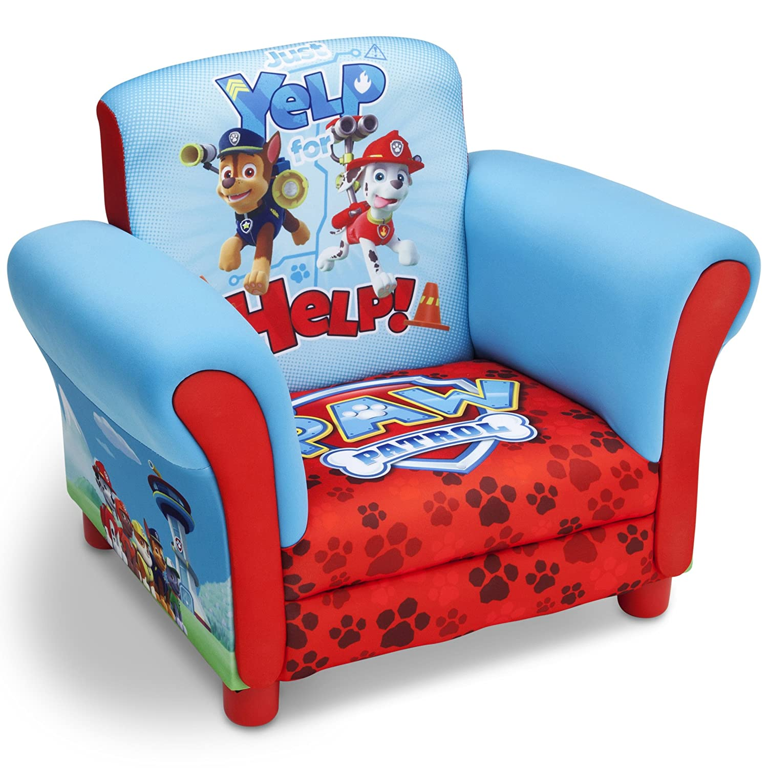 Nick Jr. Upholstered Chair, Paw Patrol Delta Children UP85822PW