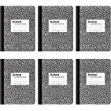 Oxford Cadernos de composição, papel pautado largo, 24 x 18 cm, 100 folhas, preto, pacote com 6 (63764)