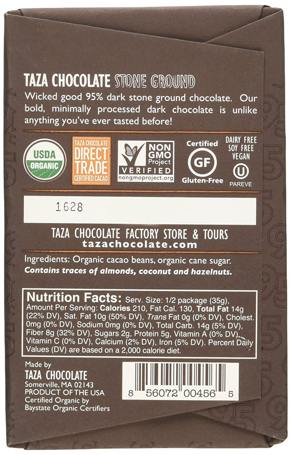 Amazon.com : Taza Chocolate Wicked Dark Chocolate, 2.5 Ounce ...