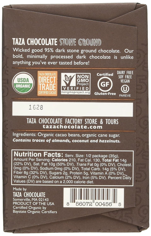 Amazon.com : Taza Chocolate Wicked Dark Chocolate, 2.5 Ounce ...