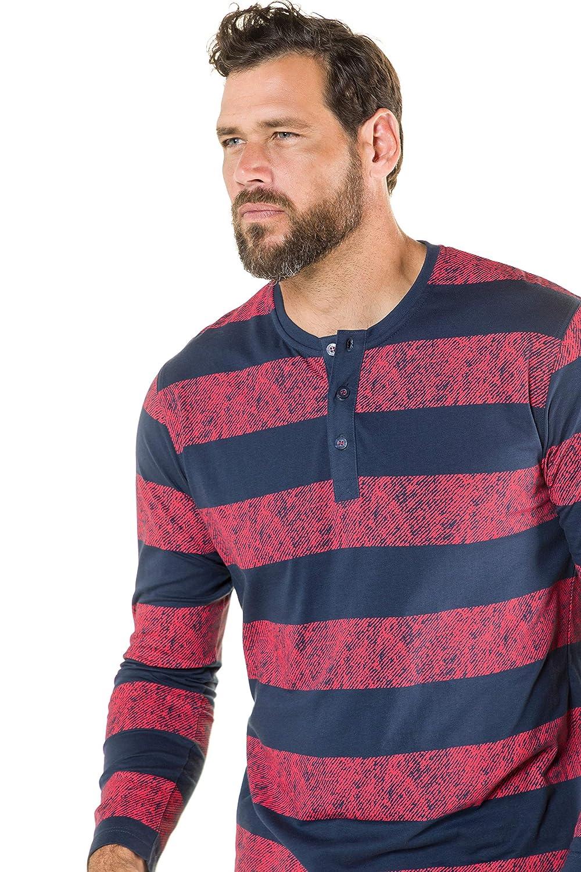 JP 1880 Mens Big /& Tall Stripe Henley Solid Pants Pajama Set 719658