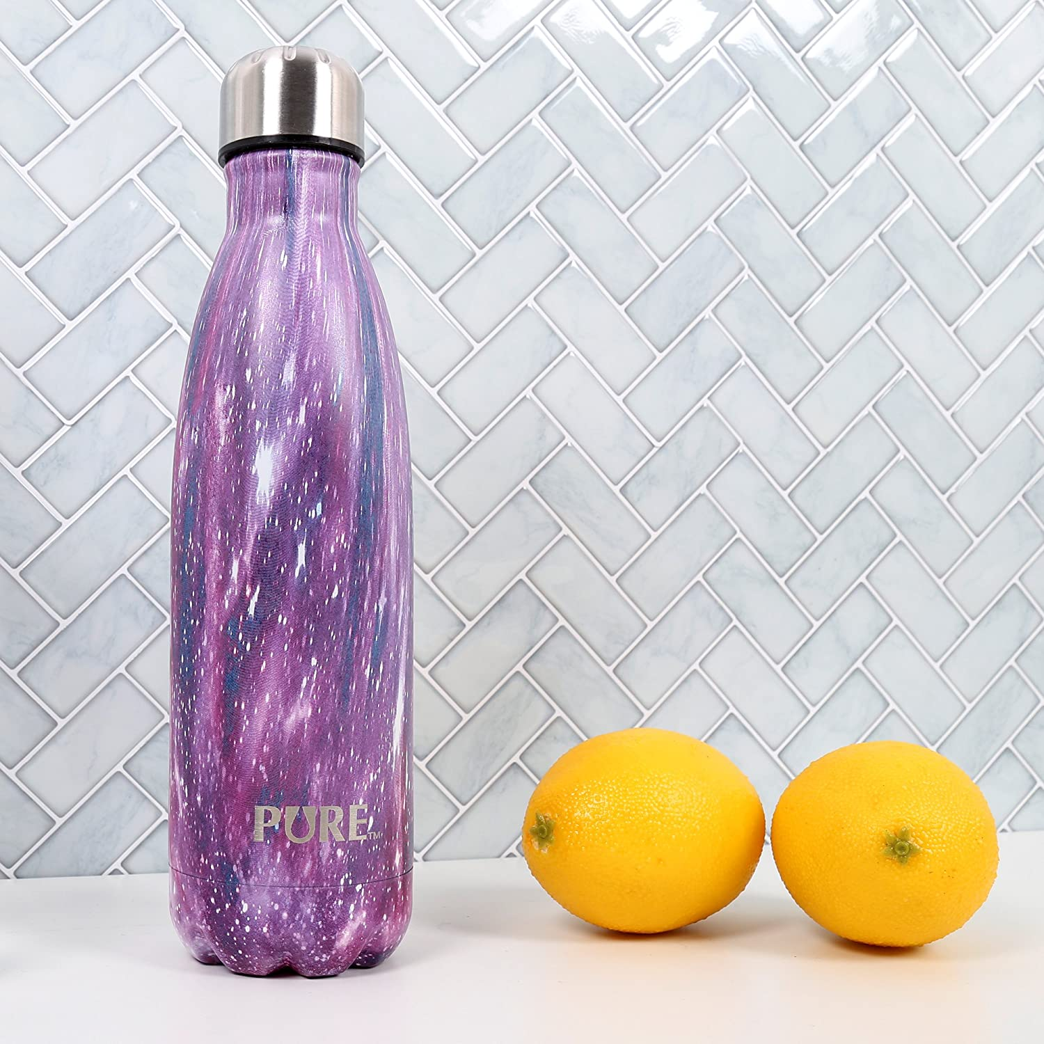 Gradient Black PURE Drinkware 70581DC-BKAQ 500mlElectro Water Bottle 17-Ounce