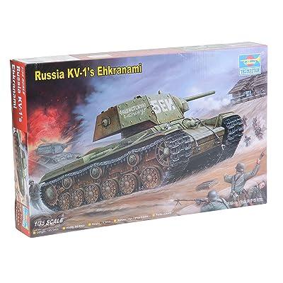 Trumpeter 1/35 Soviet KV1's Ehkranami Tank: Toys & Games