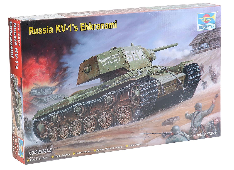 1/35 Soviet KV1's Ehkranami Tank TRUMPETER SCALE MODELS TSM-357
