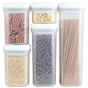 PERSIK PremiumSPIN U0026 LOCK Airtight Sealed Food Storage Containers    Stackable Plastic Canisters Foodsaver And Organization