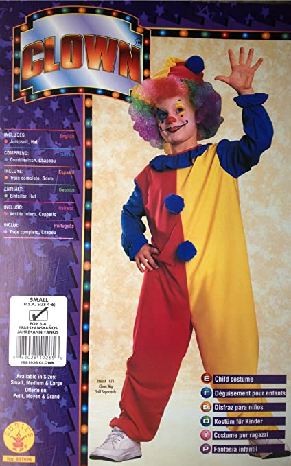Amazon.com: Kids Clown Costume (4-6): Toys & Games