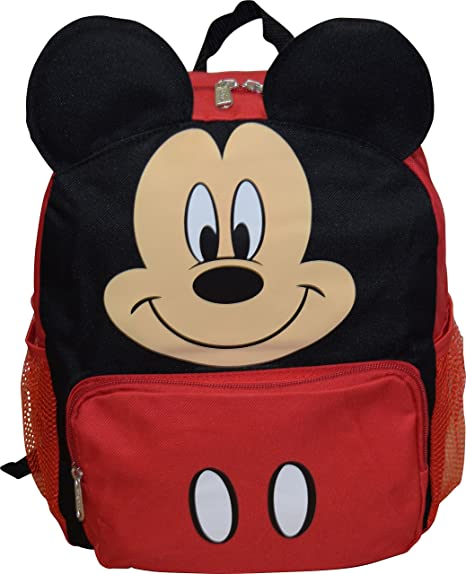 279d300951c Image Unavailable. Image not available for. Color  Mickey Mouse Disney Big  Face 14 quot  School Backpack