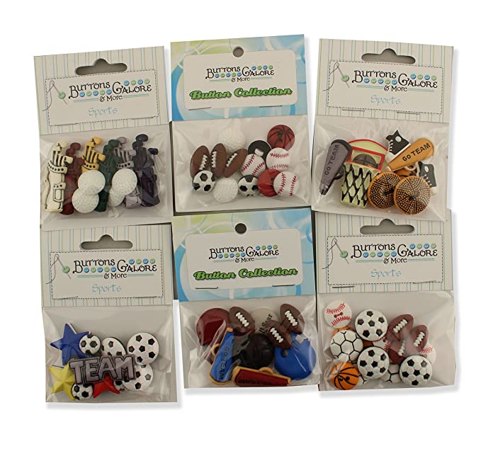 7 Piece Football Frenzy Blumenthal Lansing Company 550001806 Shaped Buttons