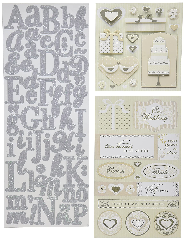 Amazon.com: K&Company Scrapbook Kit Flip Pack Sticker Embellishments ...