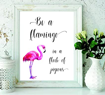 Signatives Flamingo Wall Print   Wall Art   Wall Décor   Kids Room Décor    Nursery