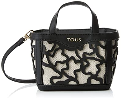Capazo Peque?o Kaos Shock, Womens Shoulder Bag, Negro (Black), 14x21x28 cm (W x H L) Tous